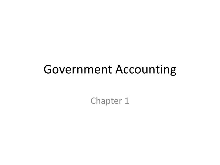 government accounting n.