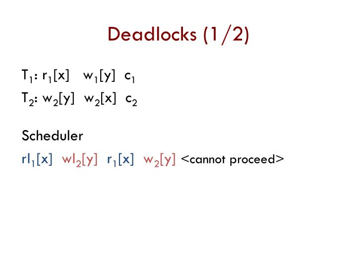 Deadlocks (1/2)