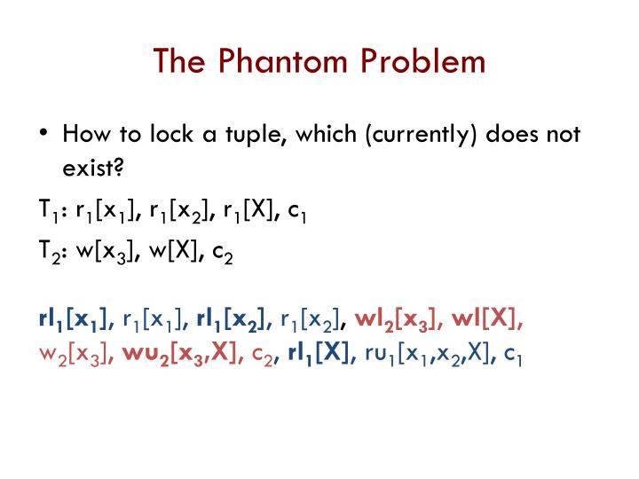 The Phantom Problem