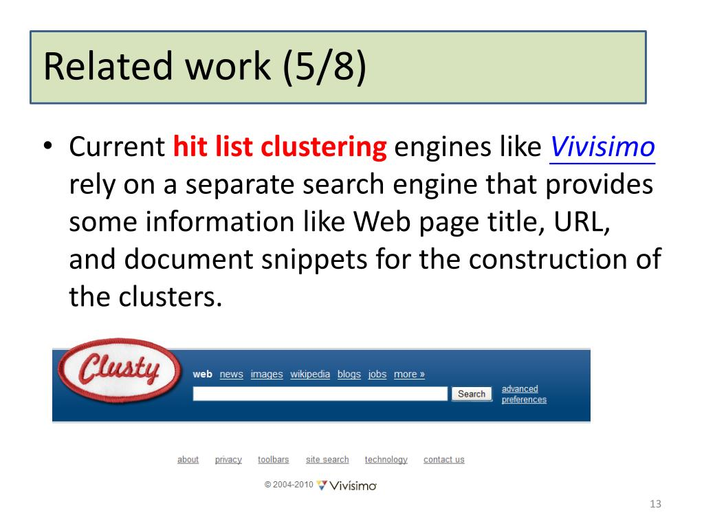 PPT - Clustering and Exploring Search Results using Timeline