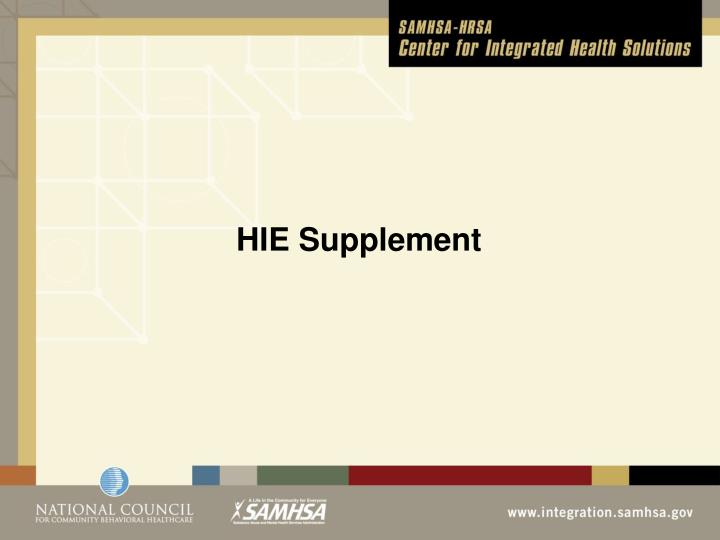 HIE Supplement