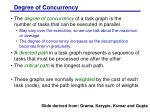 degree of concurrency