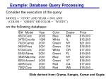 example database query processing