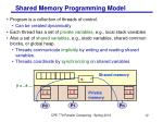 shared memory programming model
