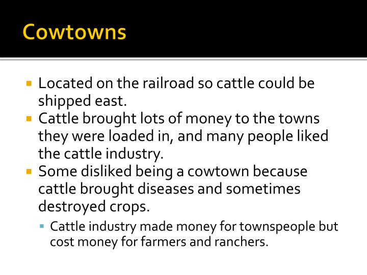 Cowtowns