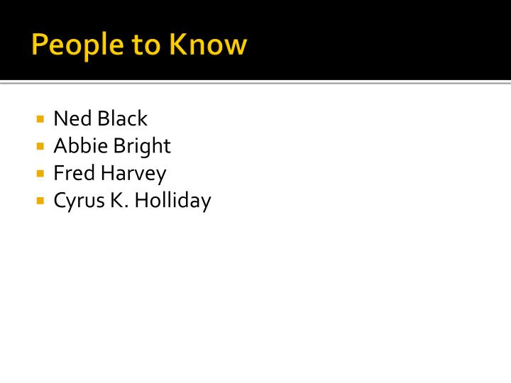 People to know