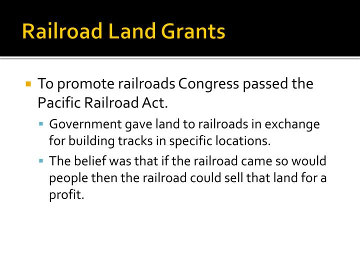 Railroad Land Grants