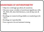 advantages of anthropometry