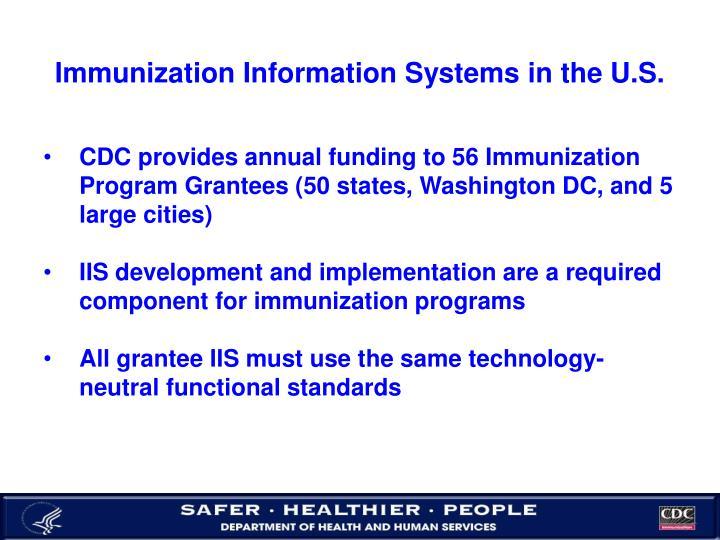 Immunization information systems in the u s