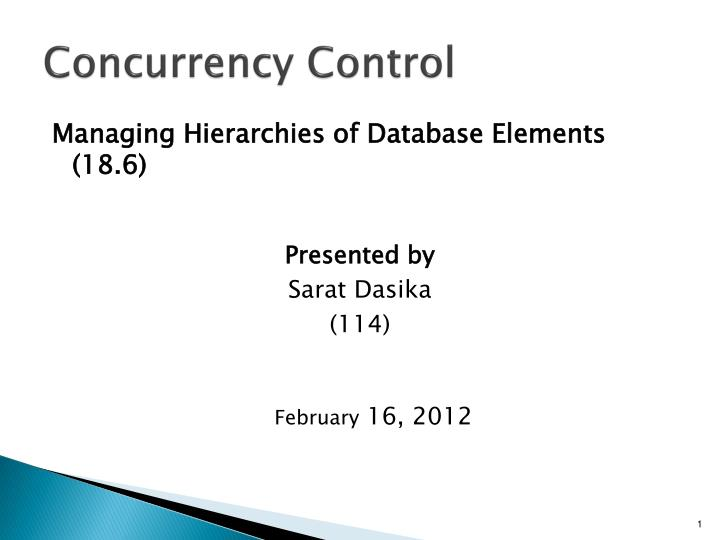 concurrency control n.