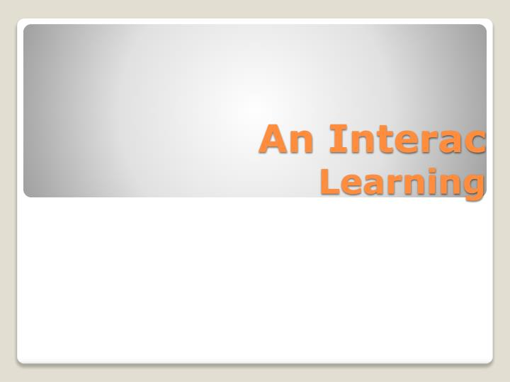 an interac learning n.
