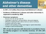 alzheimer s disease and other dementias