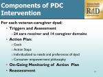 c omponents of pdc intervention