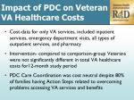 impact of pdc on veteran va healthcare costs