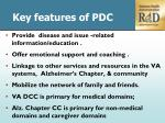 key features of pdc