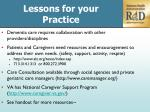lessons for your practice