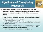 synthesis of caregiving research