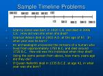 sample timeline problems