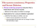 file system consistency properties and secure deletion1