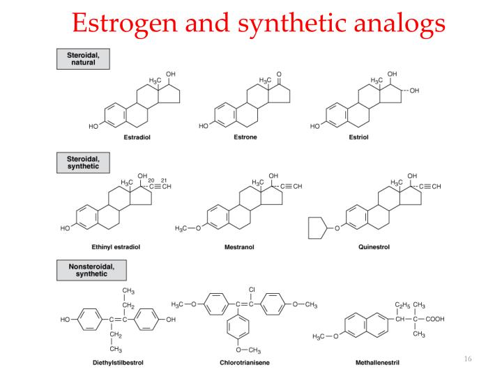 Estrogen and synthetic analogs