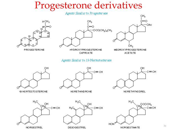 Progesterone derivatives
