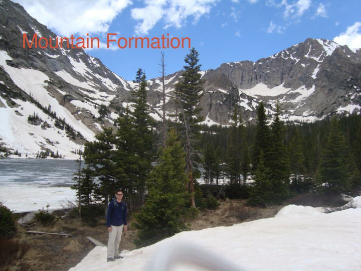 mountain formation n.