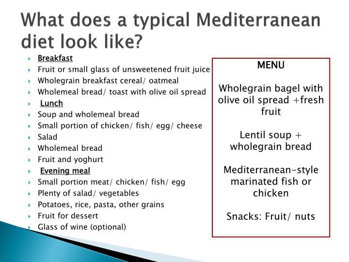 Mediterranean Diet PowerPoint Presentation