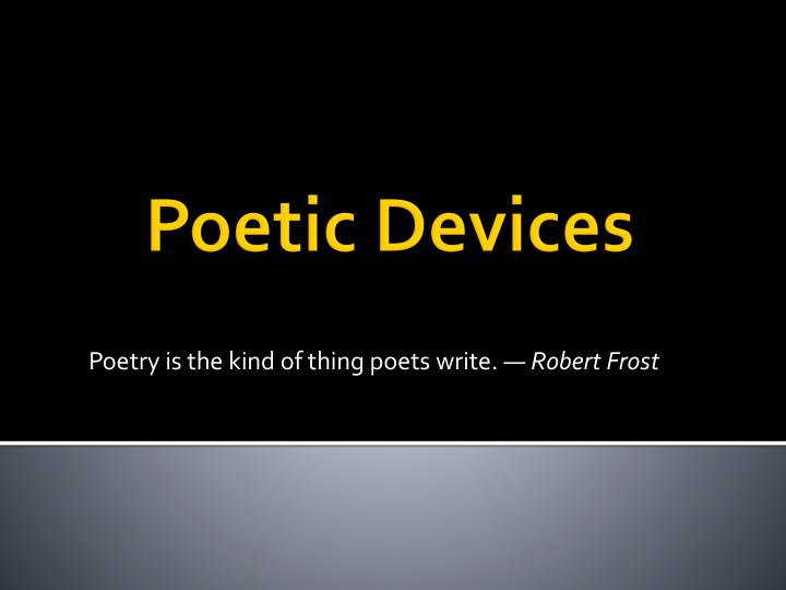 robert frost literary devices