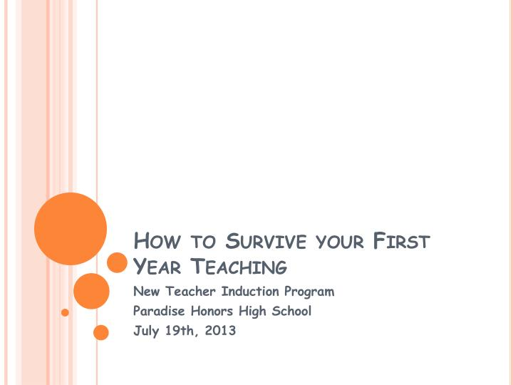 how to survive your first year teaching n.
