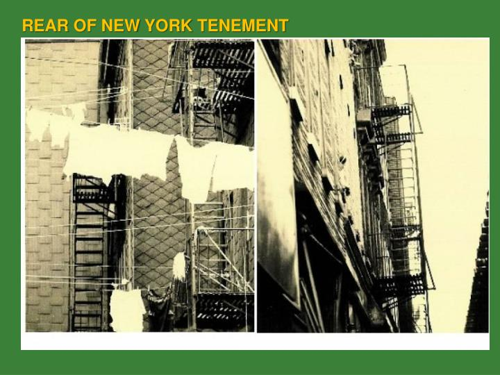 REAR OF NEW YORK TENEMENT