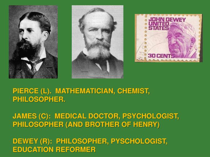 PIERCE (L).  MATHEMATICIAN, CHEMIST, PHILOSOPHER.
