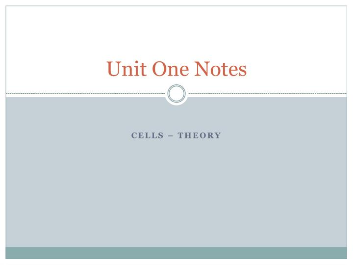 unit one notes n.
