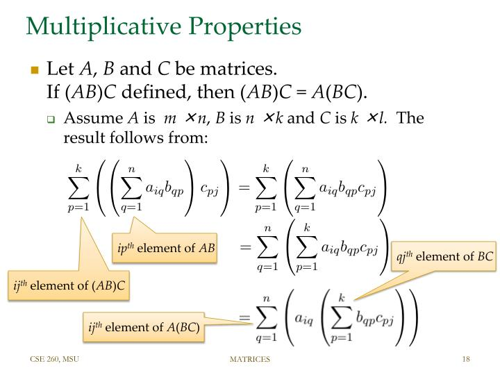 Multiplicative Properties