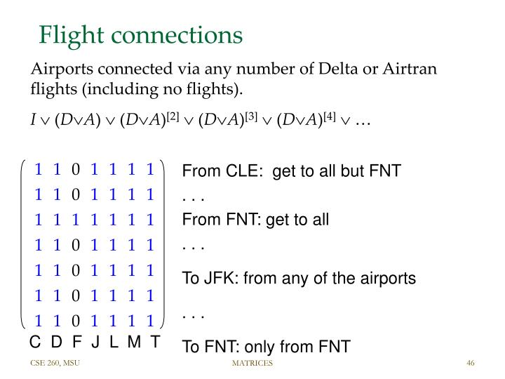 Flight connections