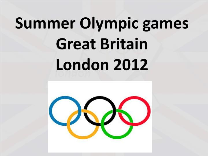summer olympic games great britain london 2012 n.
