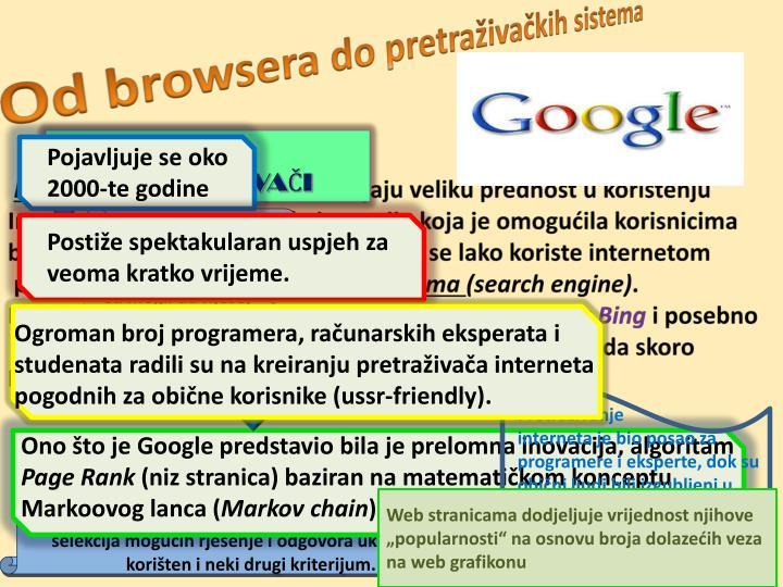Od browsera do pretraživačkih sistema