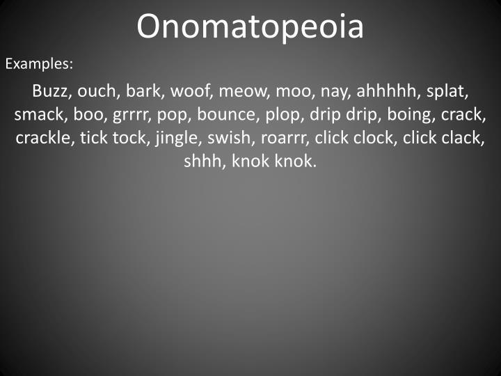 Onomatopeoia