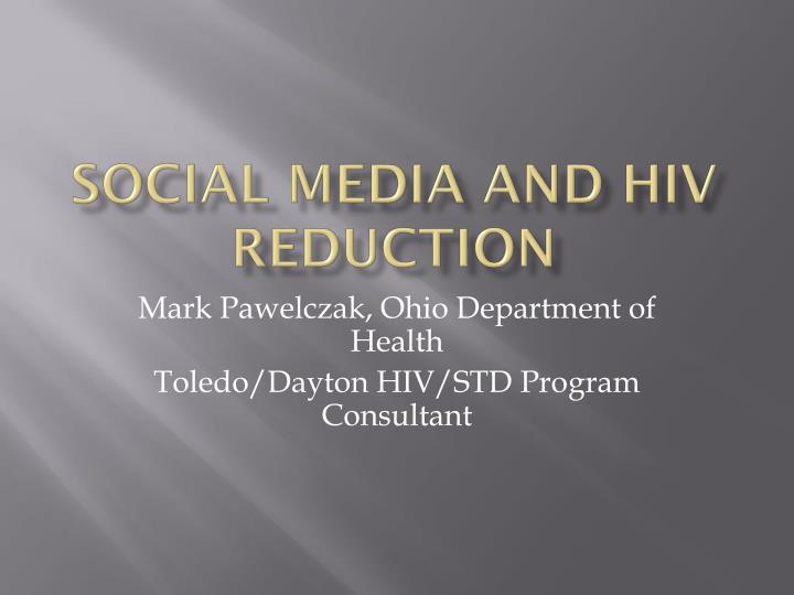 social media and hiv reduction n.