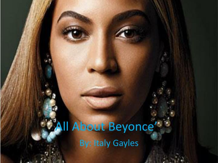 all about beyonce n.