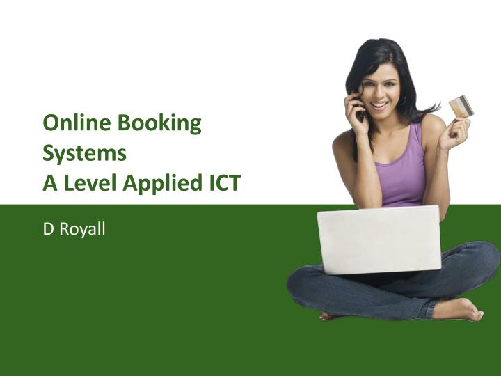 online booking systems a level applied ict n.