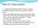 web 2 0 teknolojileri