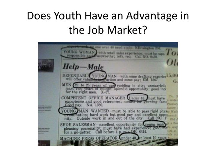 Does Youth Have an Advantage in