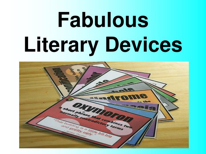 fabulous literary devices n.