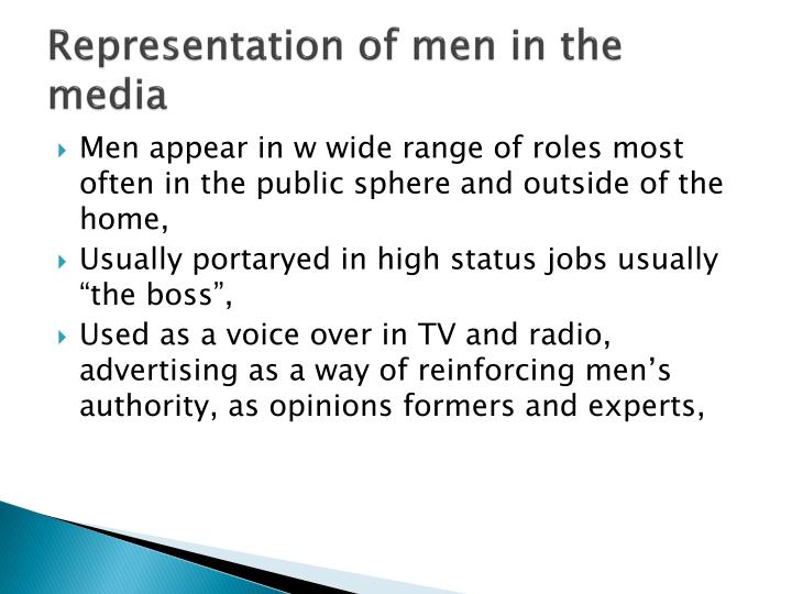 Representation of men in the media