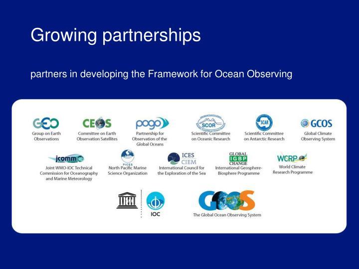 Growing partnerships