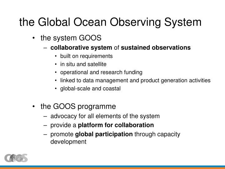 the Global Ocean Observing System