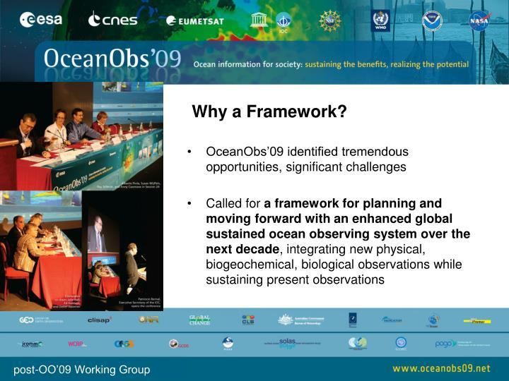 Why a Framework?