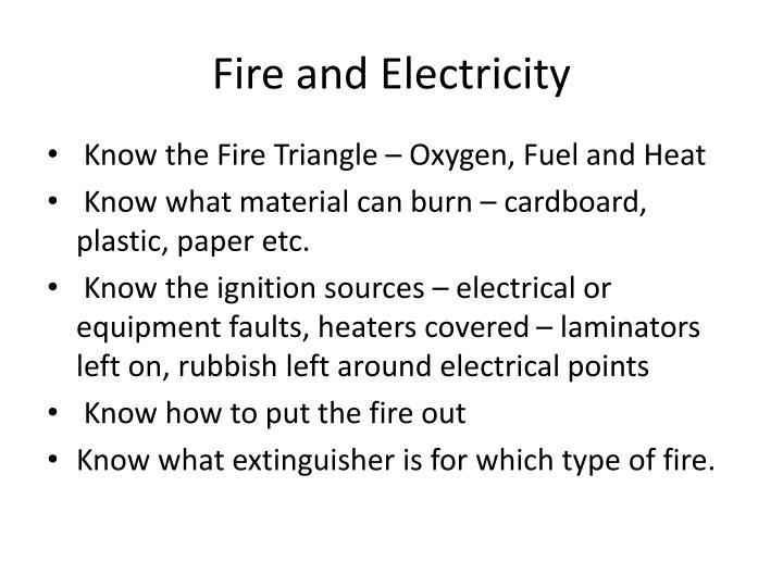 Fire and Electricity