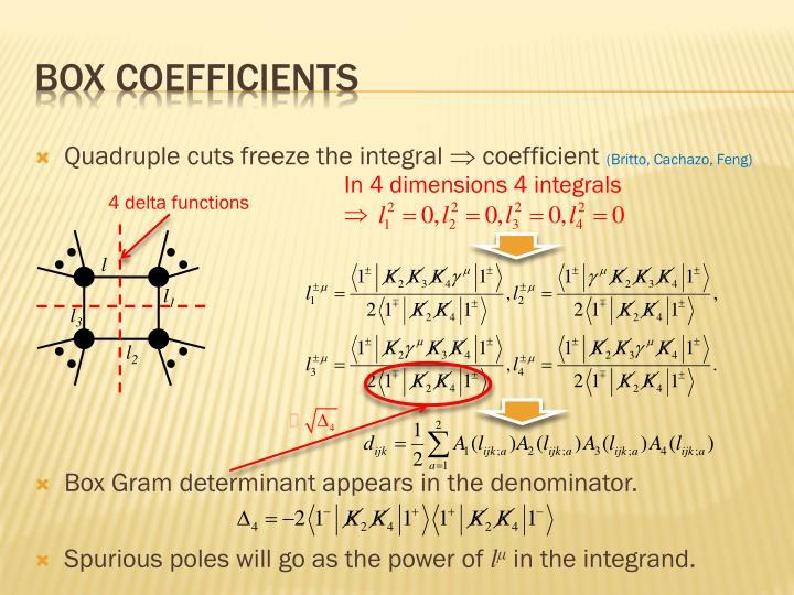 Box Coefficients