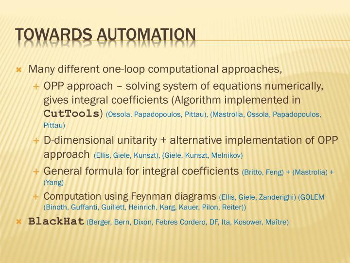 Towards Automation